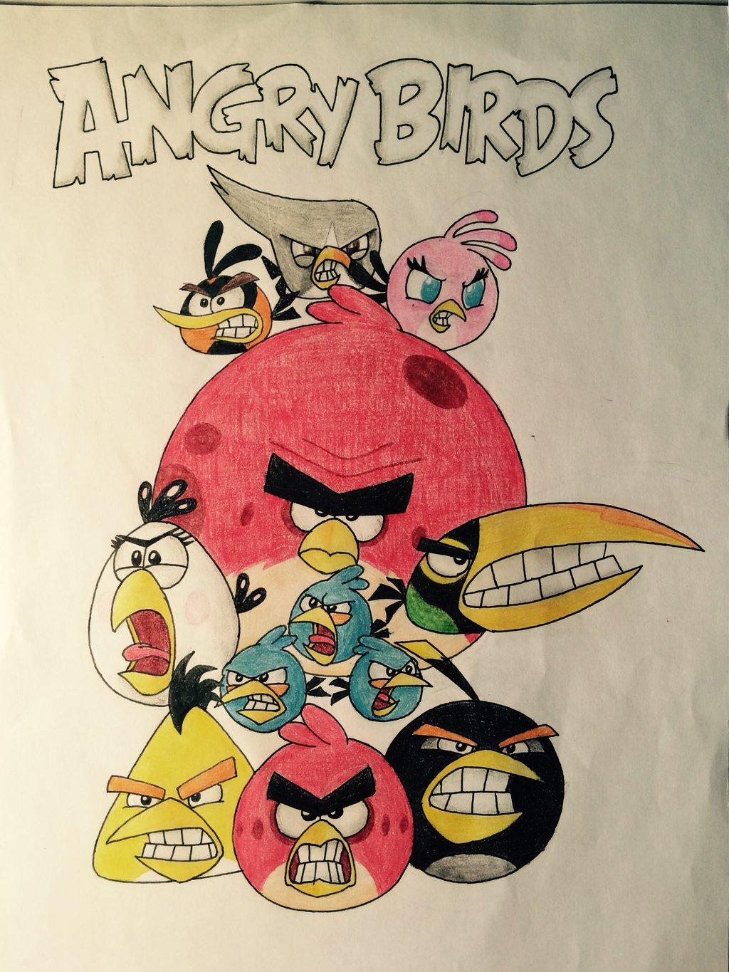 1024x1365 Angry Birds By Drgoldenstar