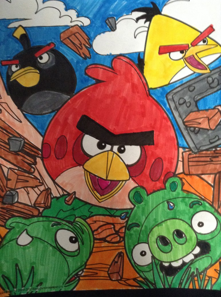 772x1034 An Angry Birds Drawing By Angrybirdsandmixels1