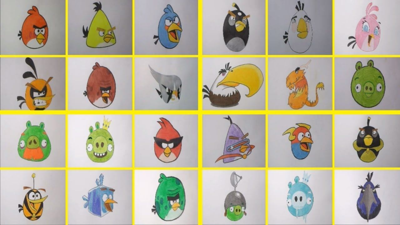 1280x720 How To Draw 24 Angry Birds Characters