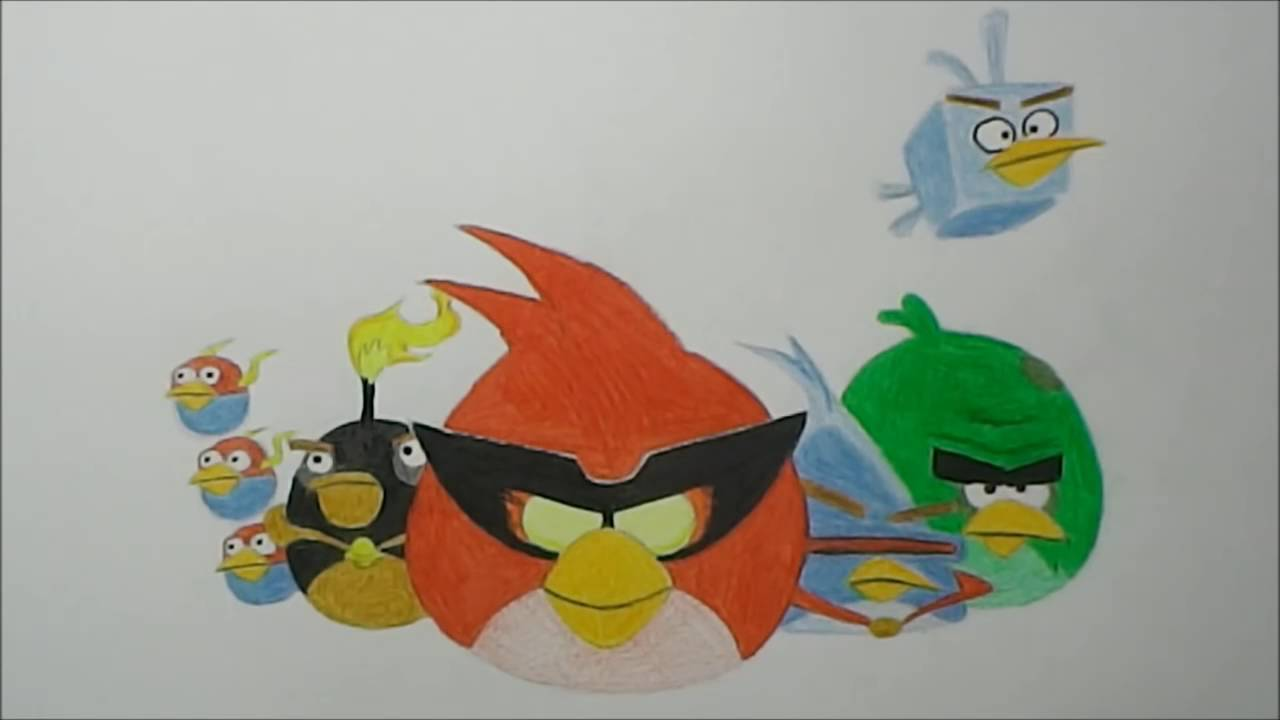 1280x720 How To Draw Angry Birds Space (All Birds)