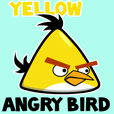 400x400 How To Draw Yellow Angry Bird With Easy Step By Step Drawing