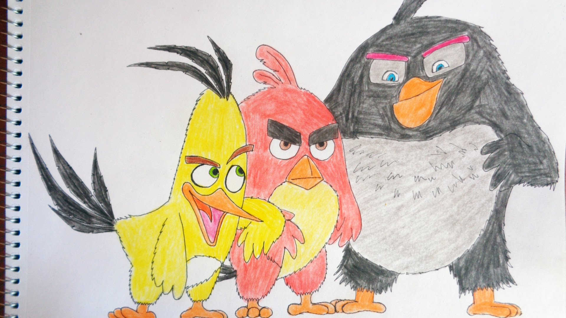 1920x1080 How To Draw Angry Birds The Movie 2016