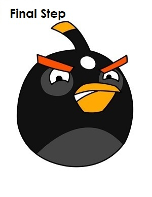 300x388 How To Draw Angry Birds (Black)