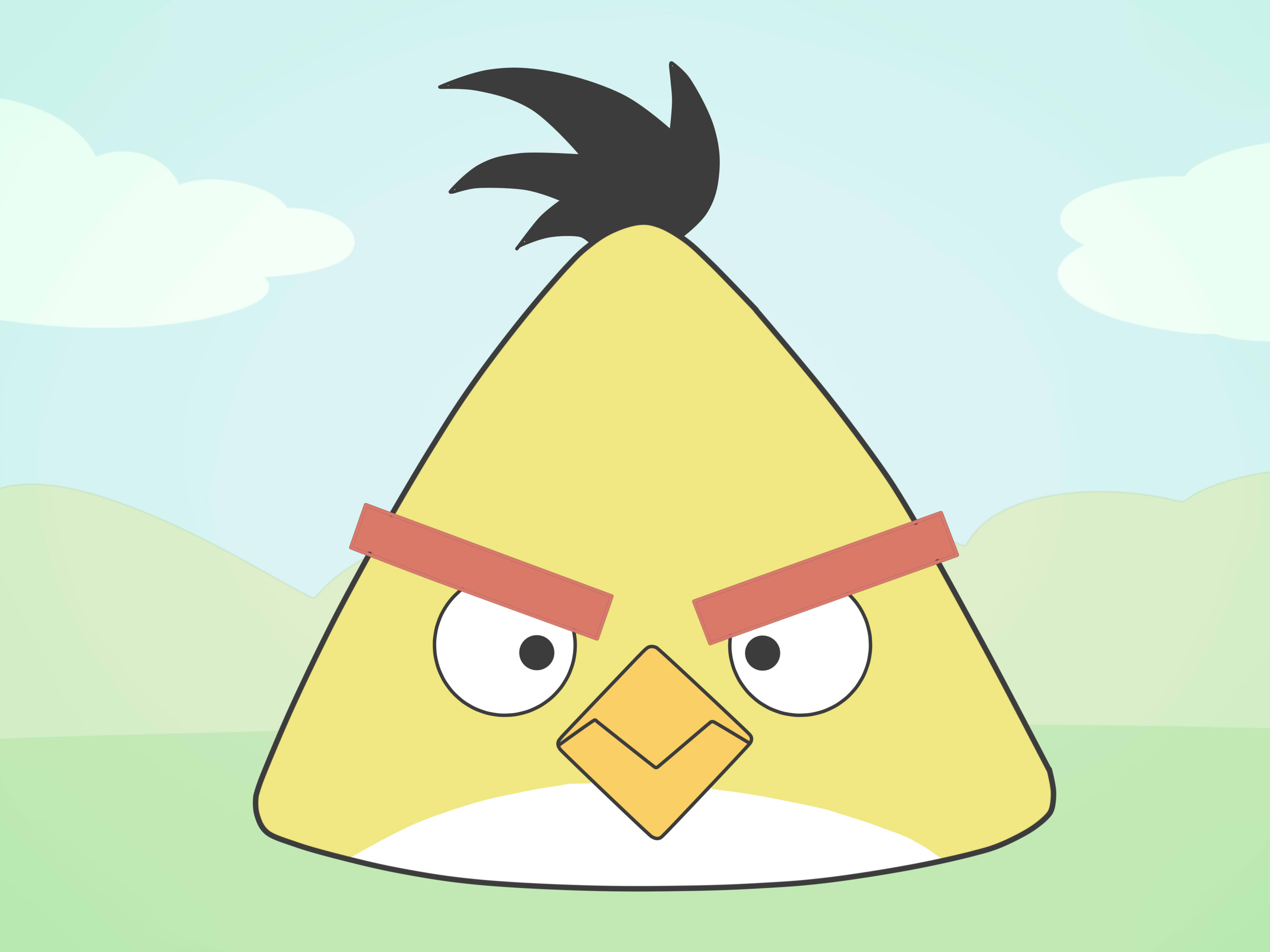 3200x2400 How To Draw An Angry Bird (Emotions) 15 Steps (With Pictures)