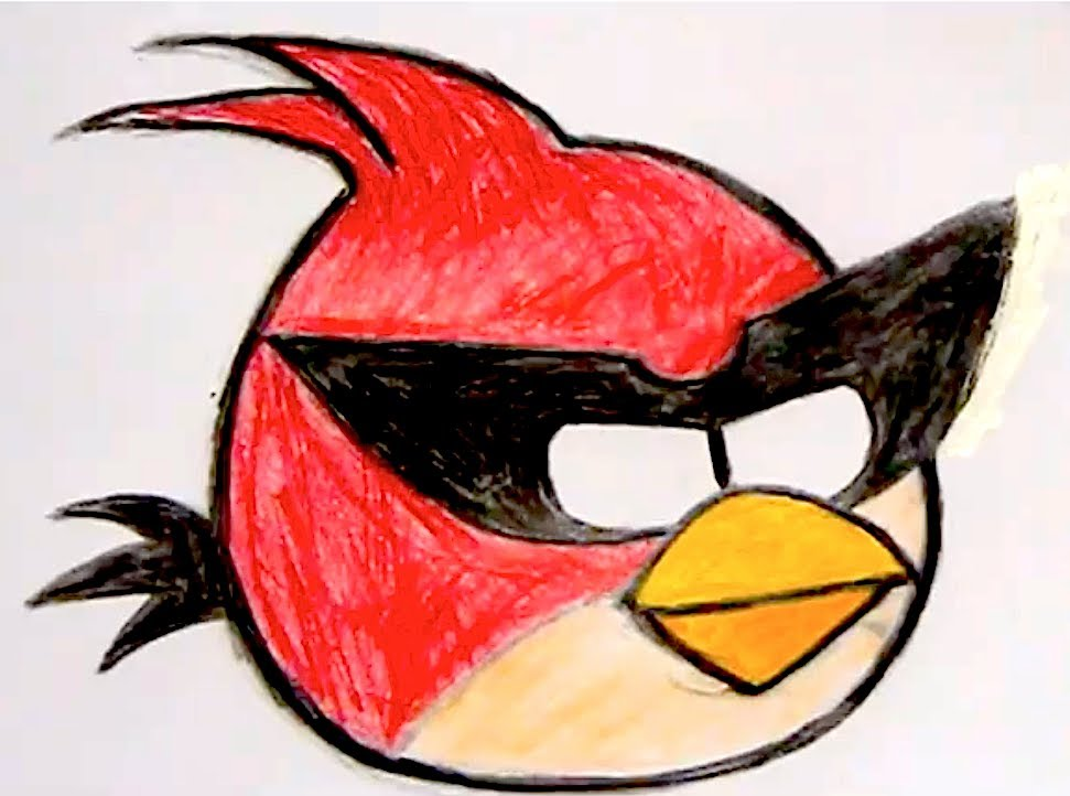 971x722 How I Draw Big Red Bird Angry Birds Space 2
