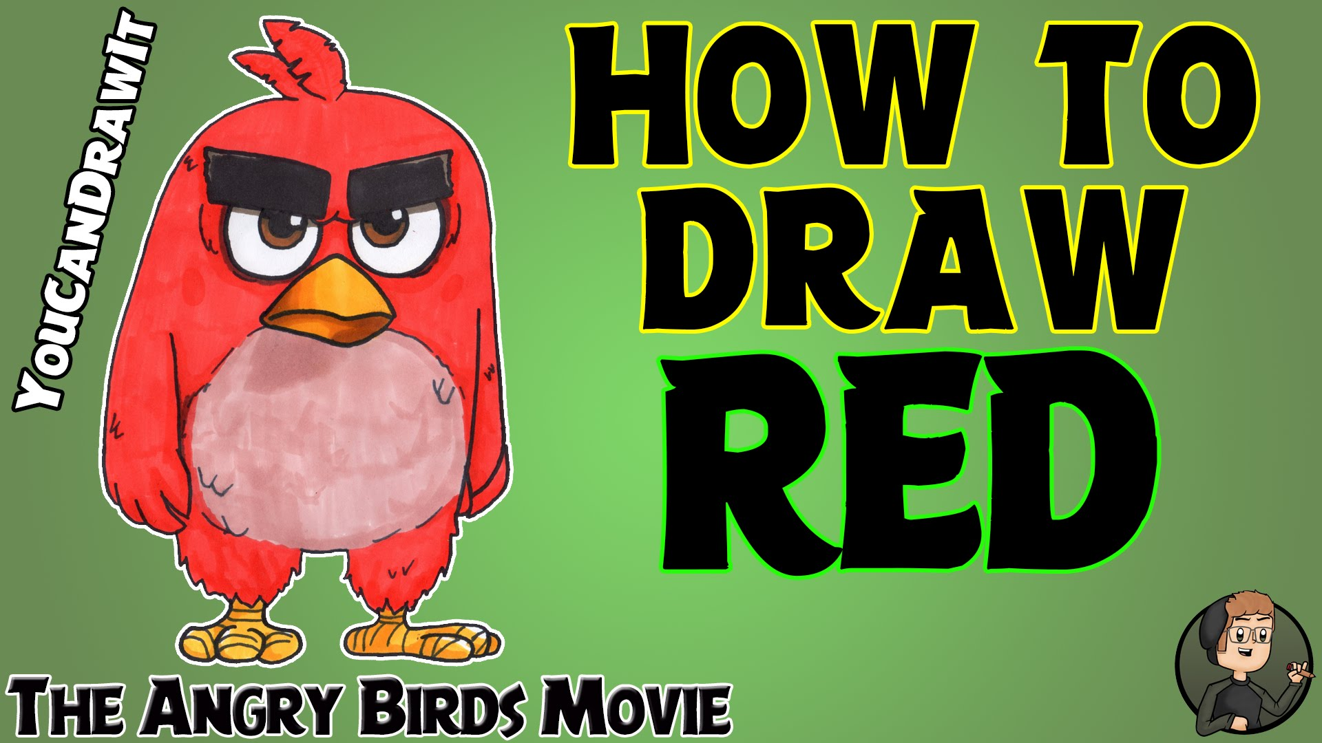 1920x1080 How To Draw Red From Angry Birds The Movie Youcandrawit
