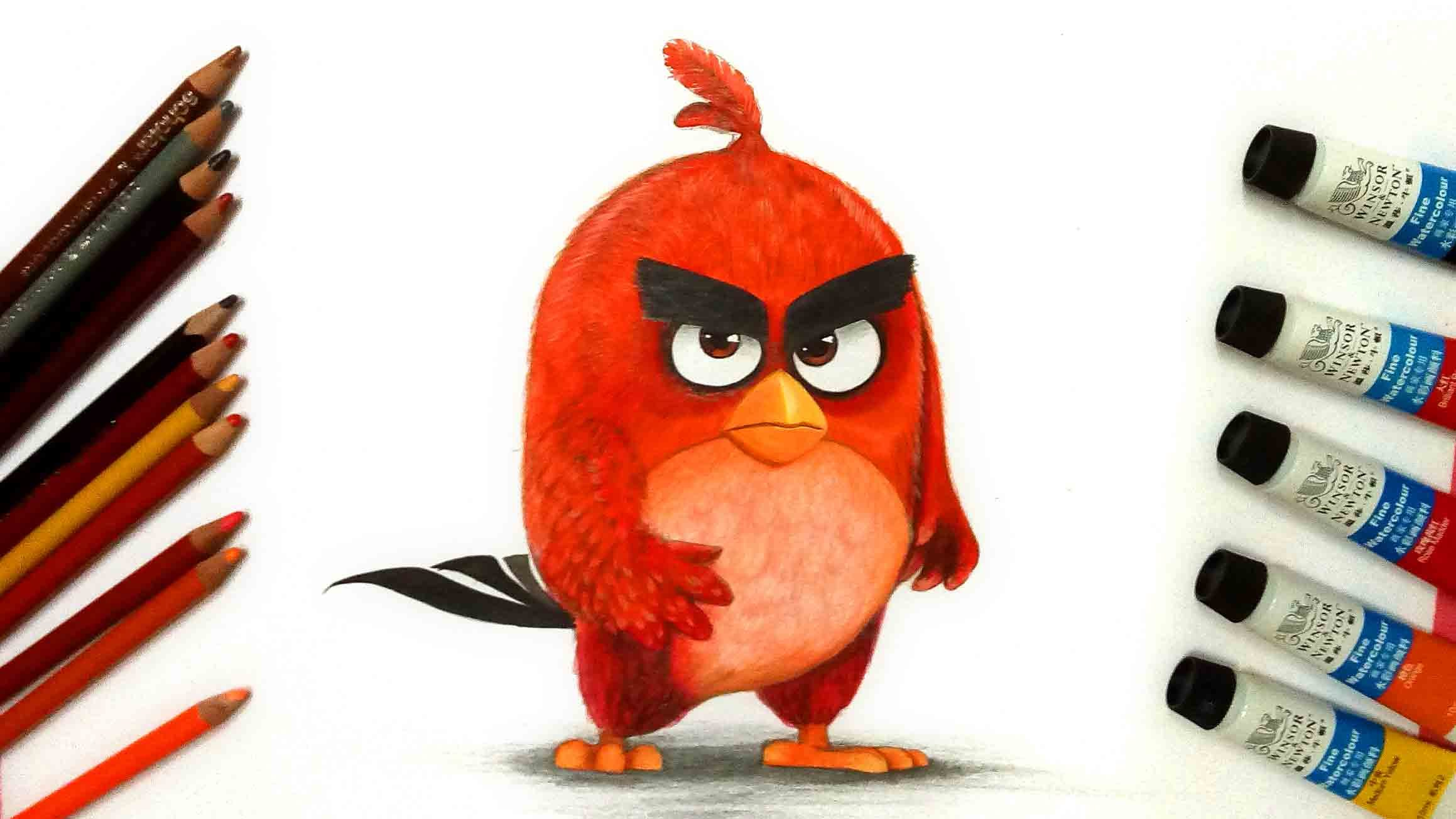 2318x1303 How To Draw Red From The Angry Birds Movie