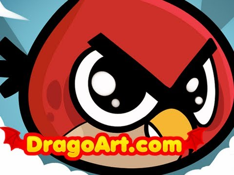 480x360 How To Draw A Chibi Angry Bird, Chibi Angry Red Bird From Angry