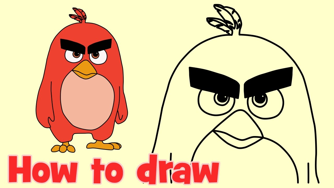 1280x720 How To Draw Red Bird From Angry Birds Movie What To Draw