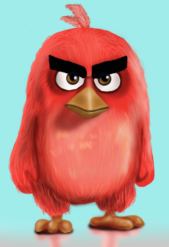 550x800 Learn How To Draw Red From The Angry Birds Movie (The Angry Birds