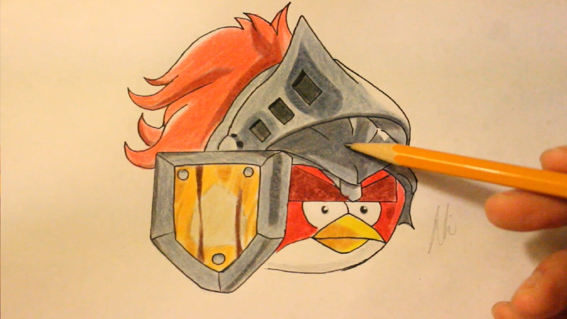 1920x1080 How To Draw Angry Birds Epic Red Bird
