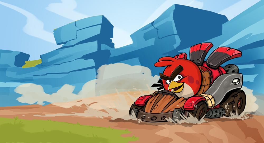 1000x545 Angry Birds Go! By Gravedfish