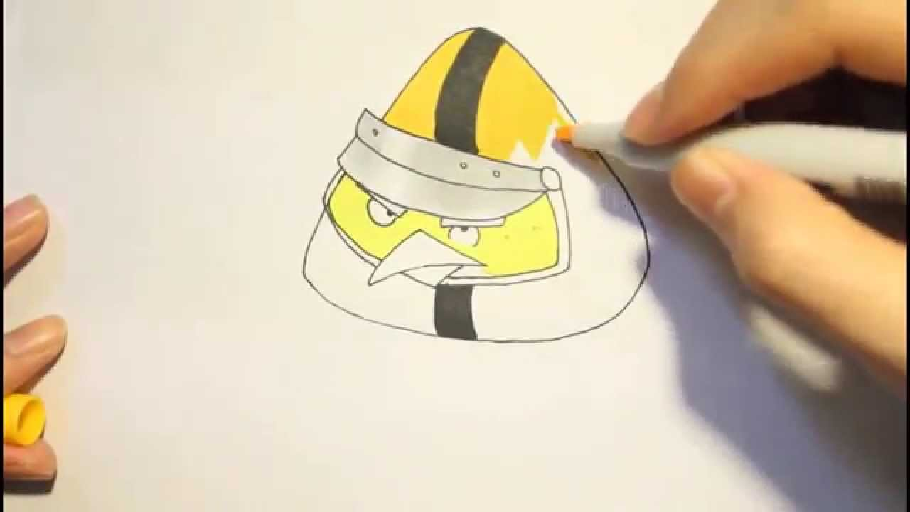 1280x720 How To Draw Chuck Yellow Bird From Angry Birds Gocomo Dibujar El