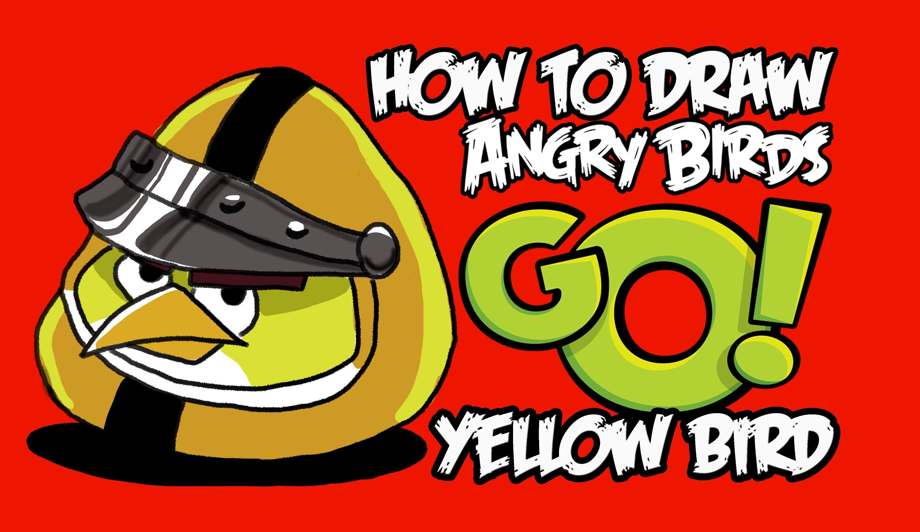 3000x1737 How To Draw Yellow Bird (Angry Birds Go!)