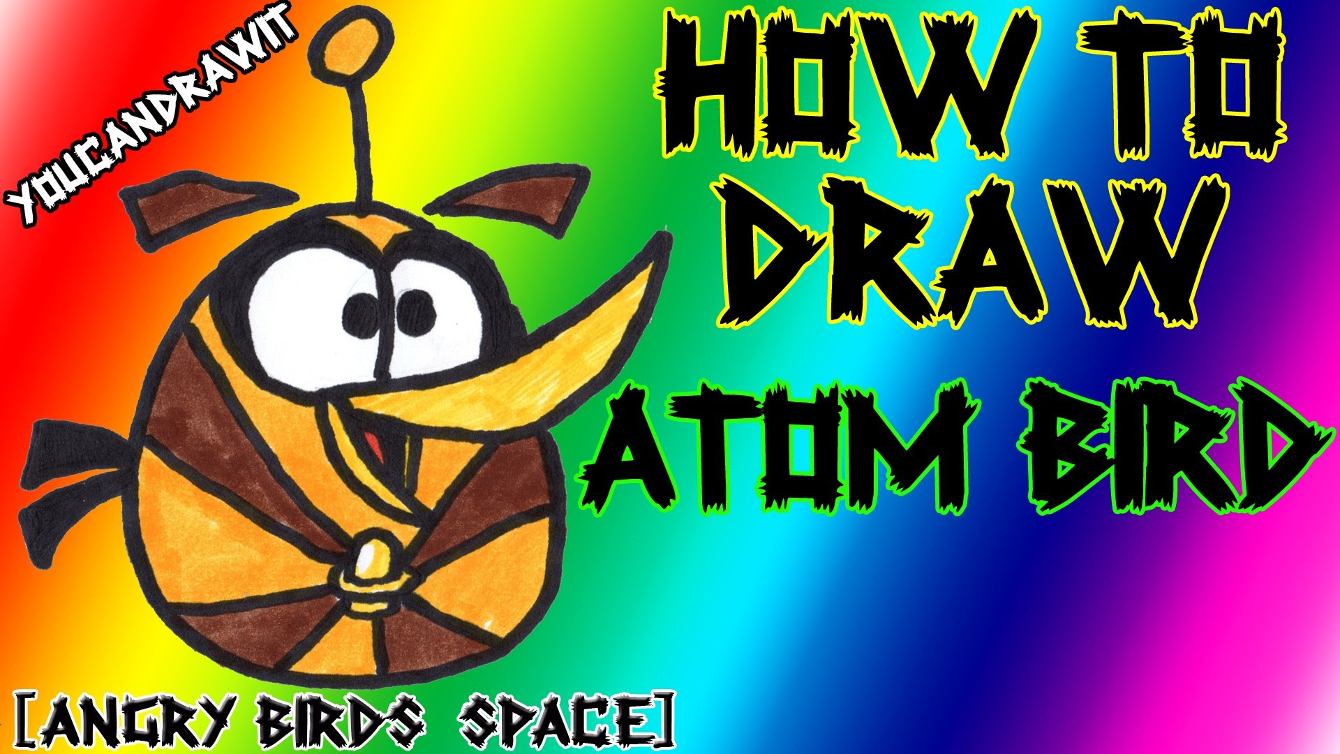 1920x1080 How To Draw Atom Bird From Angry Birds Space Youcandrawit Angry
