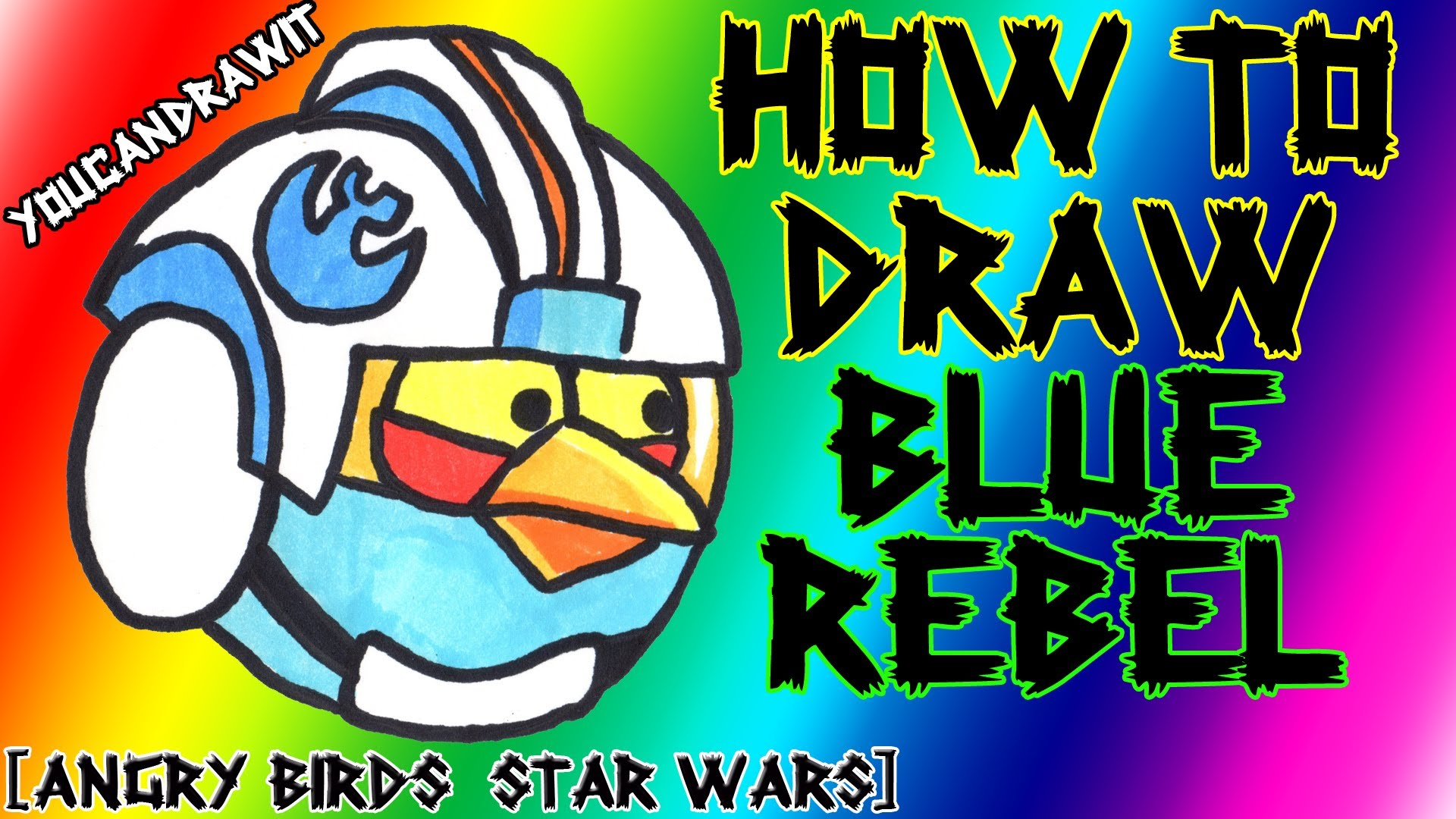 1920x1080 How To Draw Blue Rebel Pilot Bird From Angry Birds Star Wars