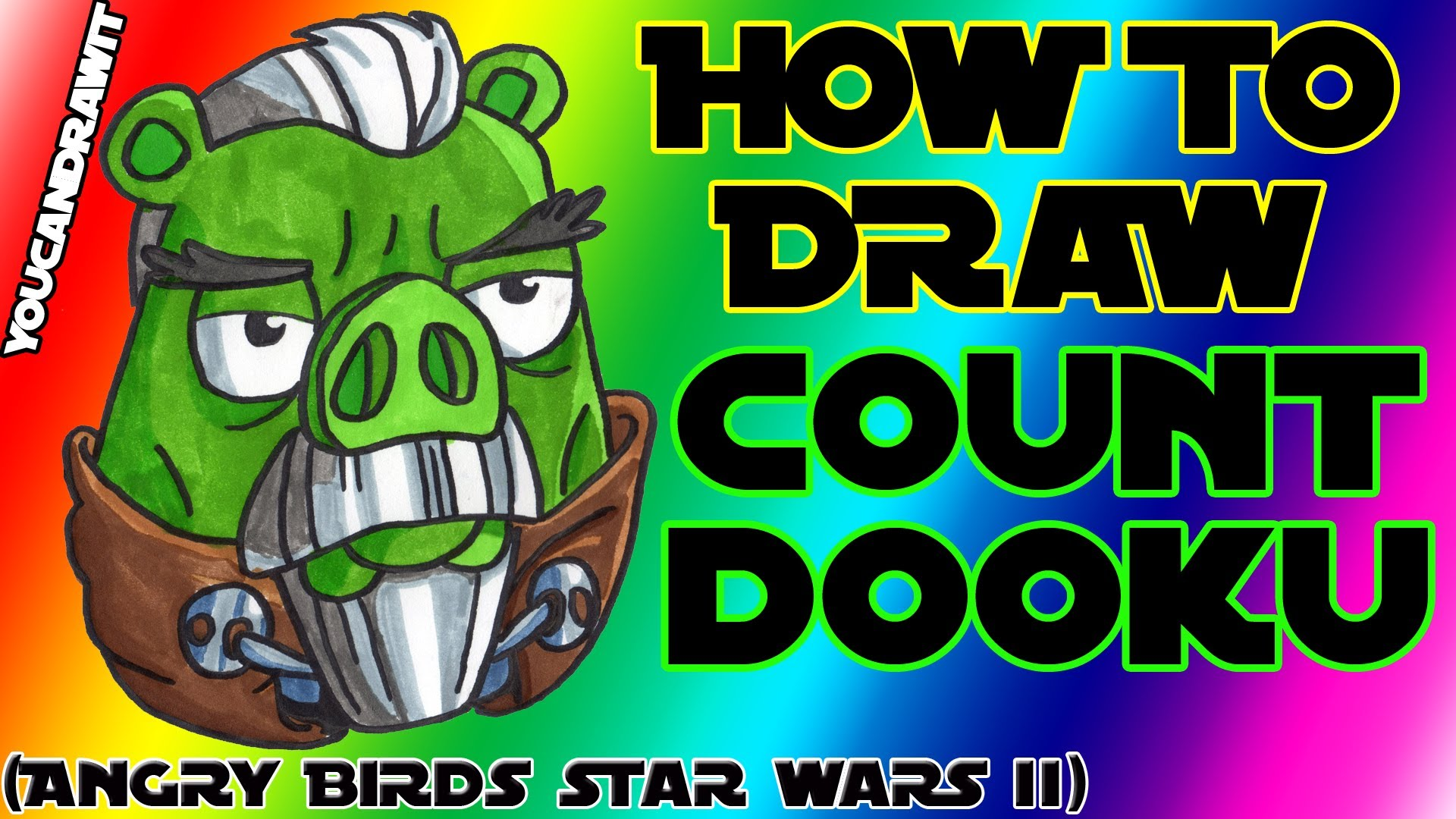 1920x1080 How To Draw Count Dooku Pig From Angry Birds Star Wars 2