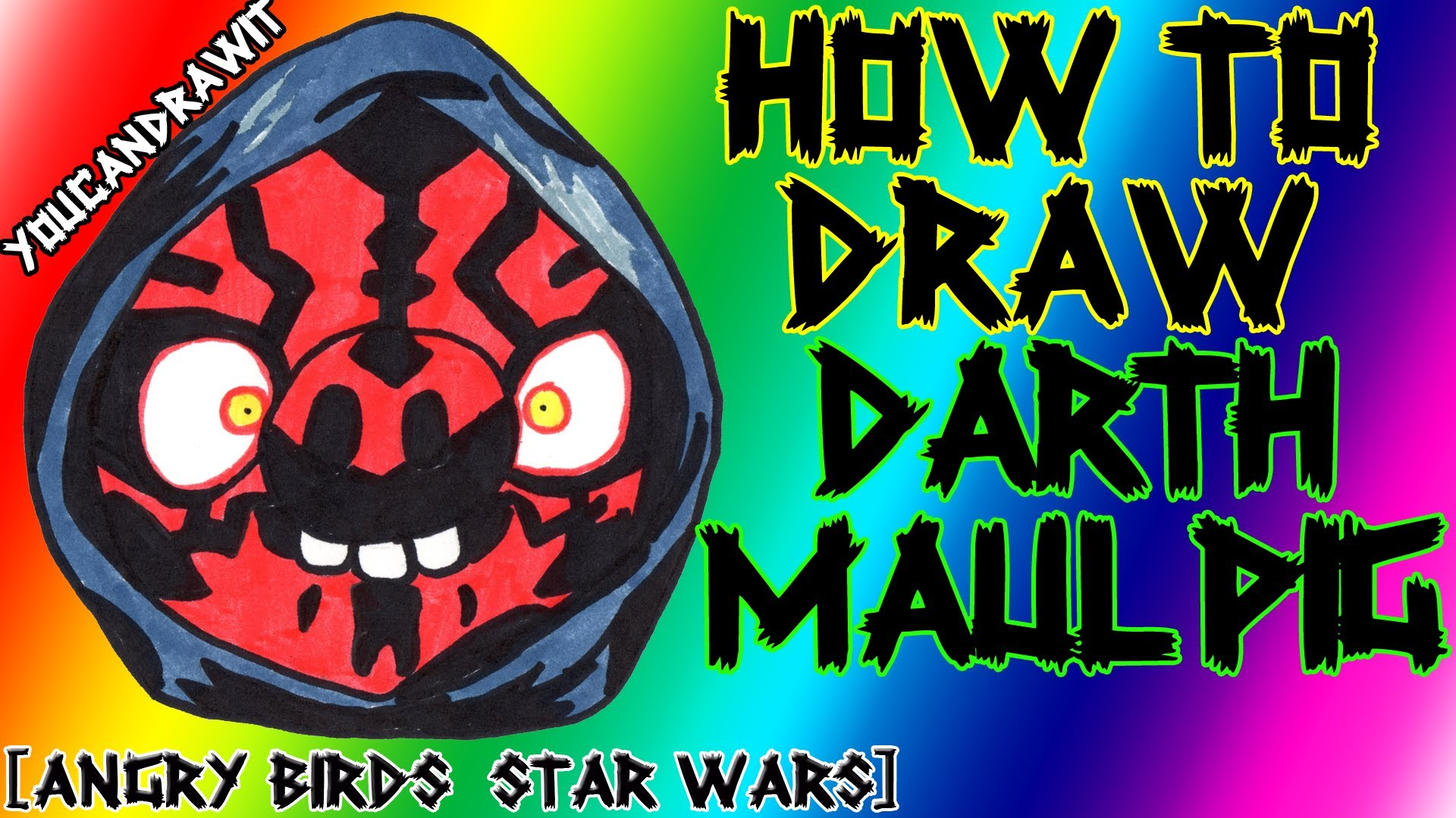1920x1080 How To Draw Darth Maul Pig From Angry Birds Star Wars