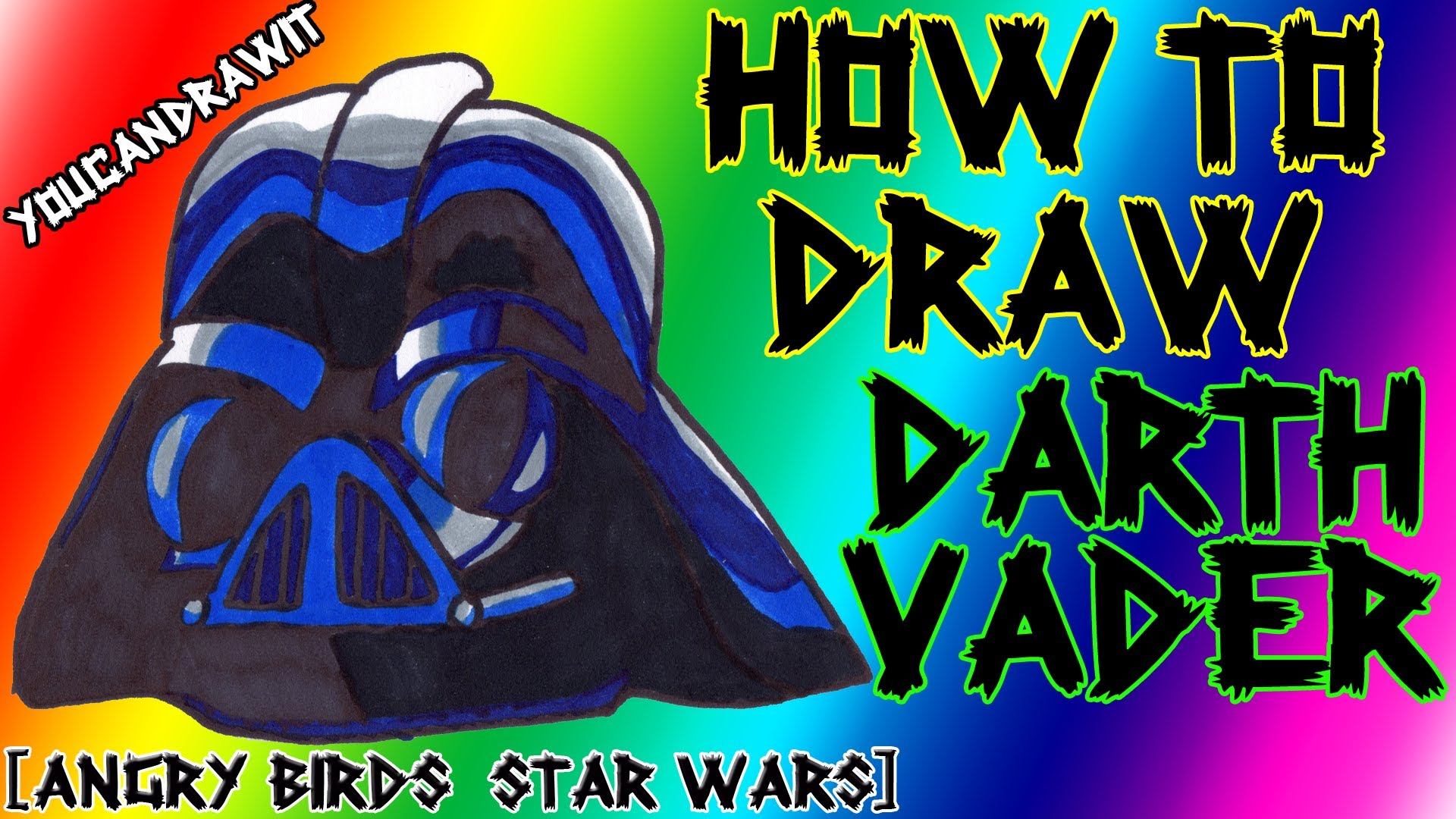 1920x1080 How To Draw Darth Vader Pig From Angry Birds Star Wars