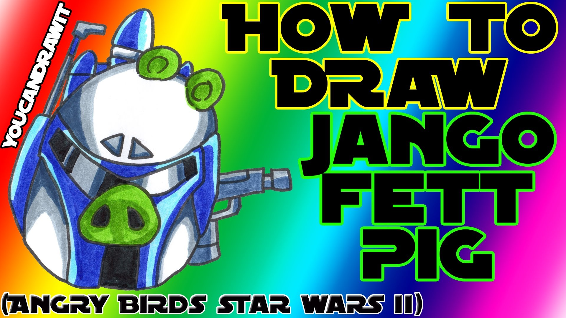 1920x1080 How To Draw Jango Fett Pig From Angry Birds Star Wars 2
