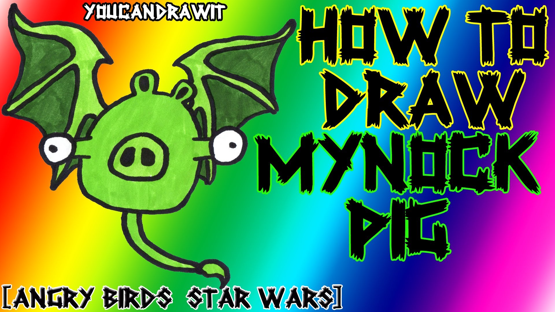 1920x1080 How To Draw Mynock Pig From Angry Birds Star Wars Youcandrawit
