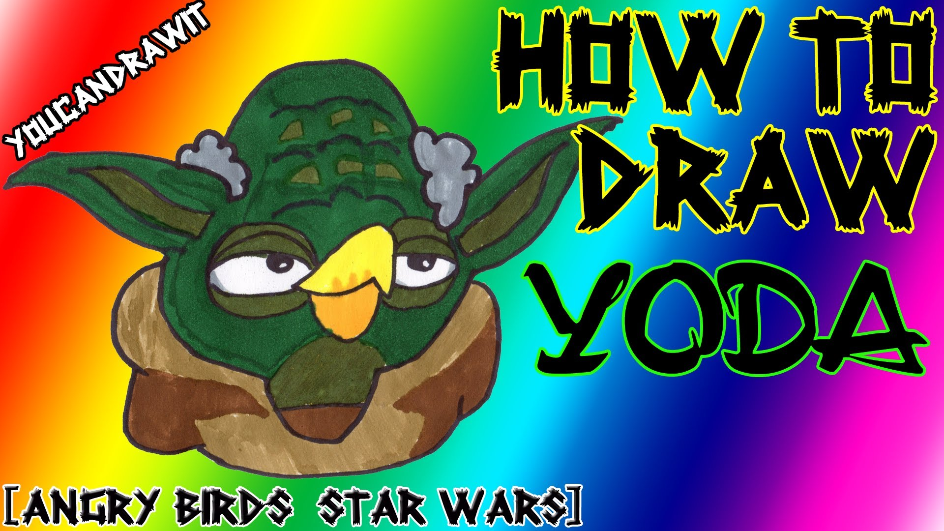 1920x1080 How To Draw Yoda From Angry Birds Star Wars 1amp2 Youcandrawit