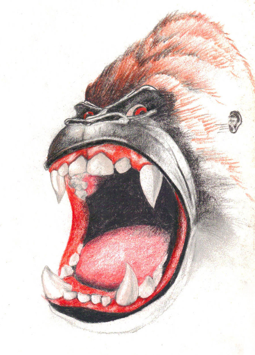 825x1147 Angry Gorilla By Nabafied