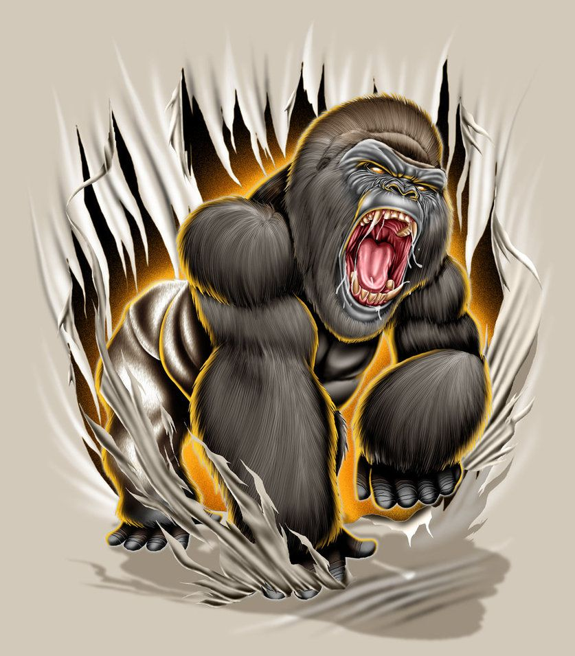 837x955 Gorilla Mad By Brown73 Art Gangsters And Drawings