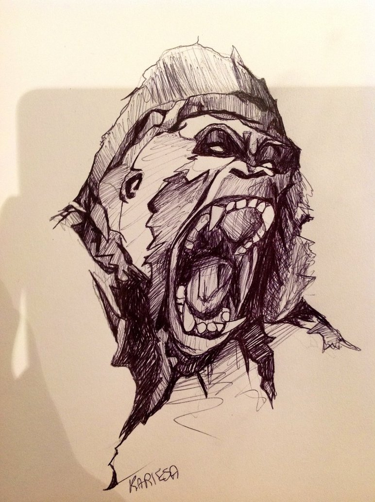 772x1034 Gorilla Sketch By Reecekikluvloot