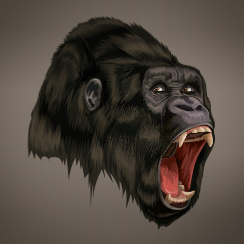 838x839 Pencil Roll On Twitter Mala2luv Angry Gorilla Realistic