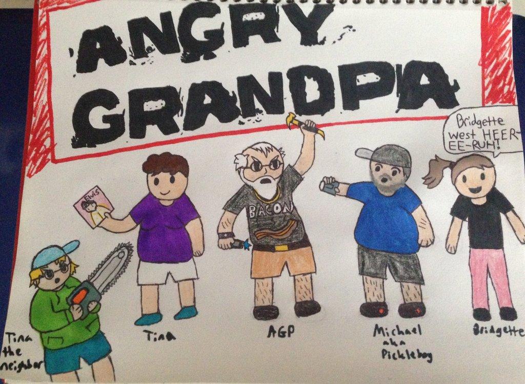 1024x748 Angry Grandpa By 50shadesofsquid