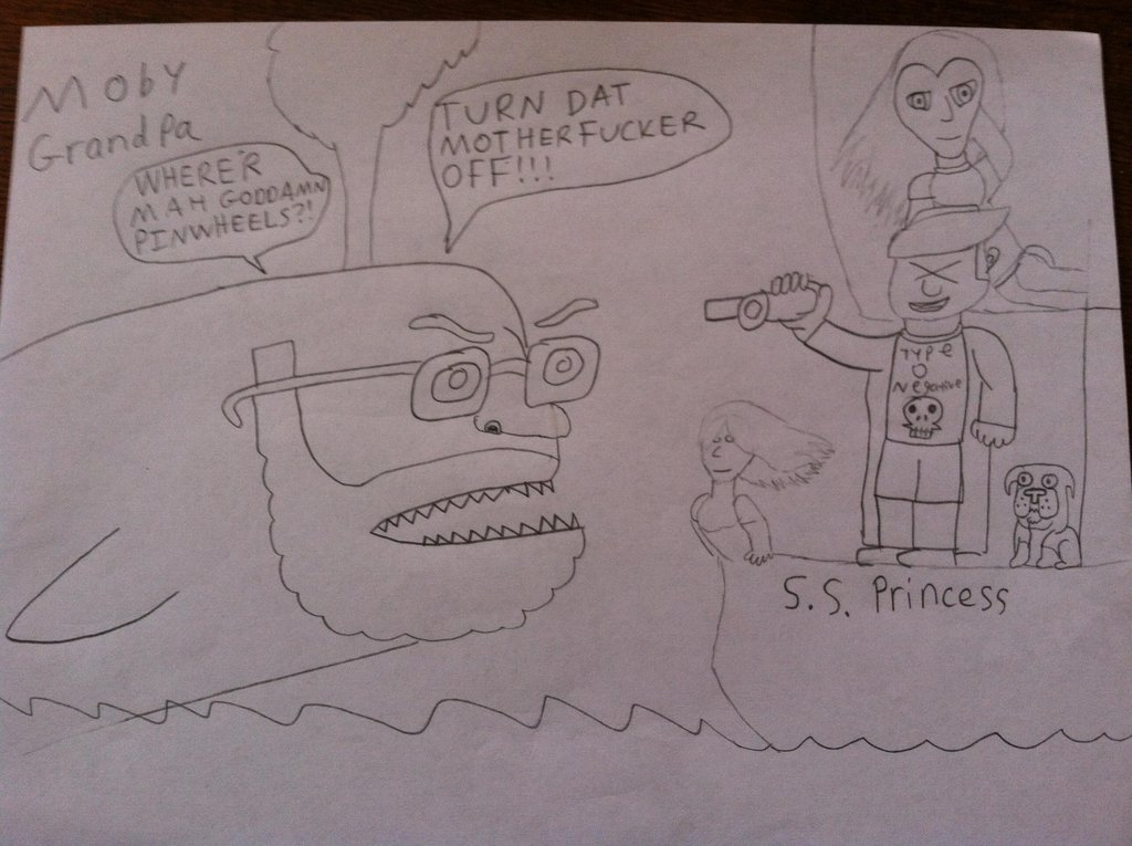 1024x765 Moby Grandpa Angry Grandpa In A Moby Dick Setting By