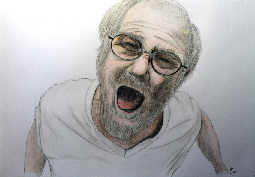 850x591 Portrait Of Angry Grandpa By Monkfan1992 On Stars Portraits