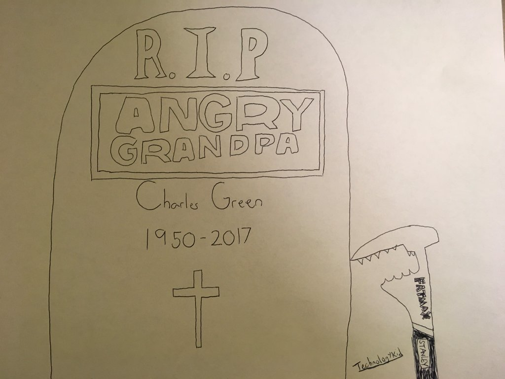 1024x768 Rip Angry Grandpa By Technologykid