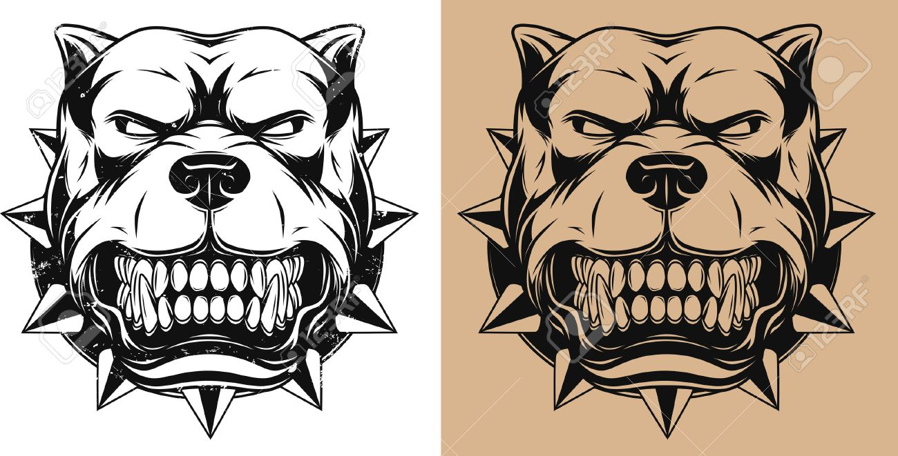1300x661 1,396 Pit Bull Stock Illustrations, Cliparts And Royalty Free Pit
