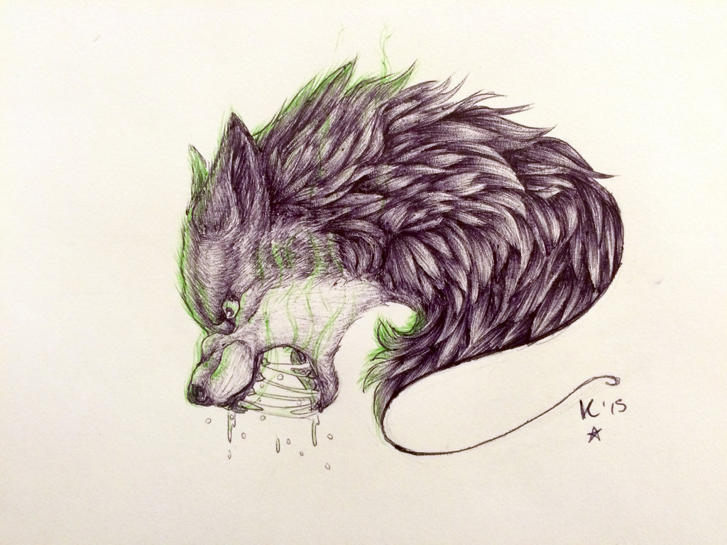 Lineart Wolf Tattoo : Angry wolf drawing at getdrawings.com free for personal use