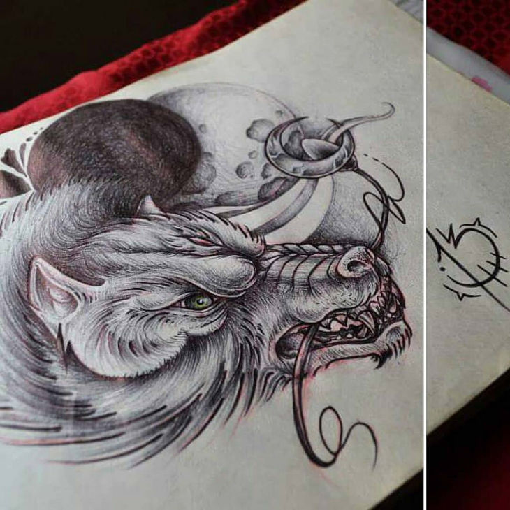 730x730 Amazing Collection Of Wolf Drawingdrawings Design Trends