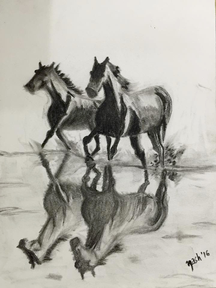 720x960 Neetasha Joshi Artwork Freedom Original Drawing Charcoal