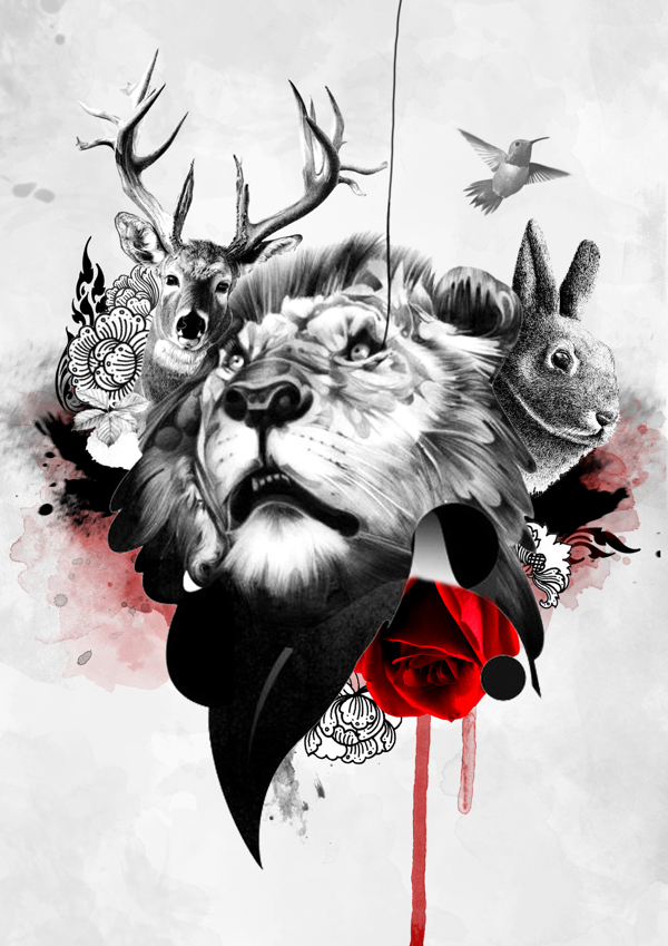 600x849 Animals Collage By Dreamm Nicha, Via Behance Collage
