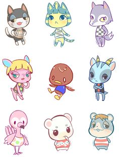 236x311 Set Of 21 Animal Villager Stickers! Nerdvana