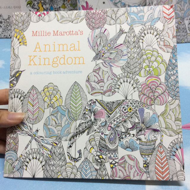 640x640 24 Pages Animal Kingdom English Edition Antistress Coloring Book