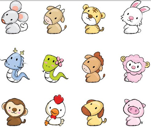 491x417 cute drawing animals vector ai format free vector download