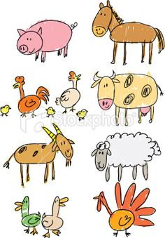 236x339 stick figure animals - Pictures Of Animals For Kids