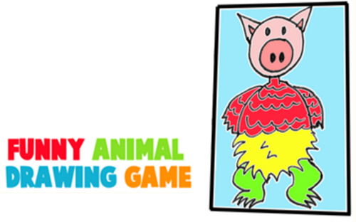 500x312 Create Silly Animals And Creatures With This Fun Family Drawing