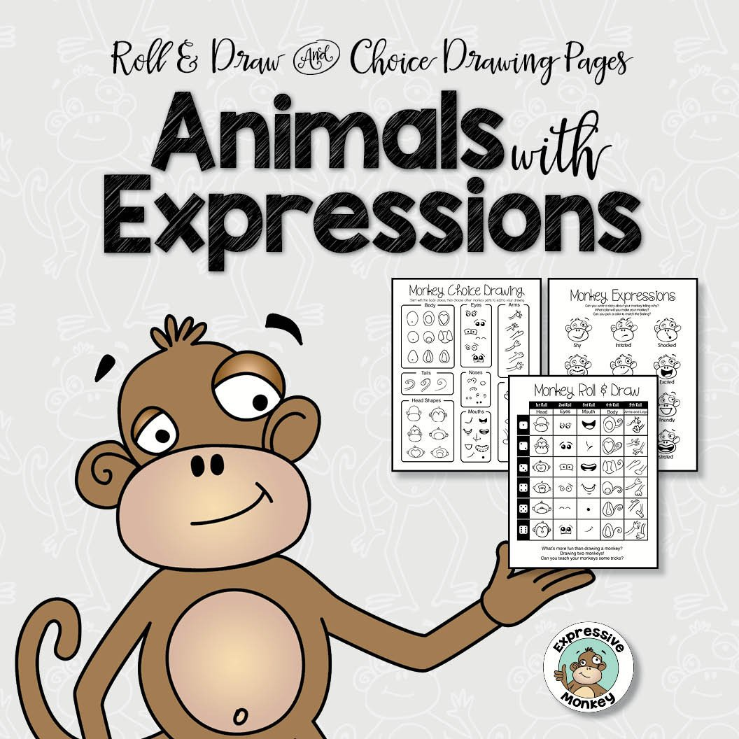 1056x1056 Drawing Animals With Expressions 1, 2 And 3rd Grade Projects