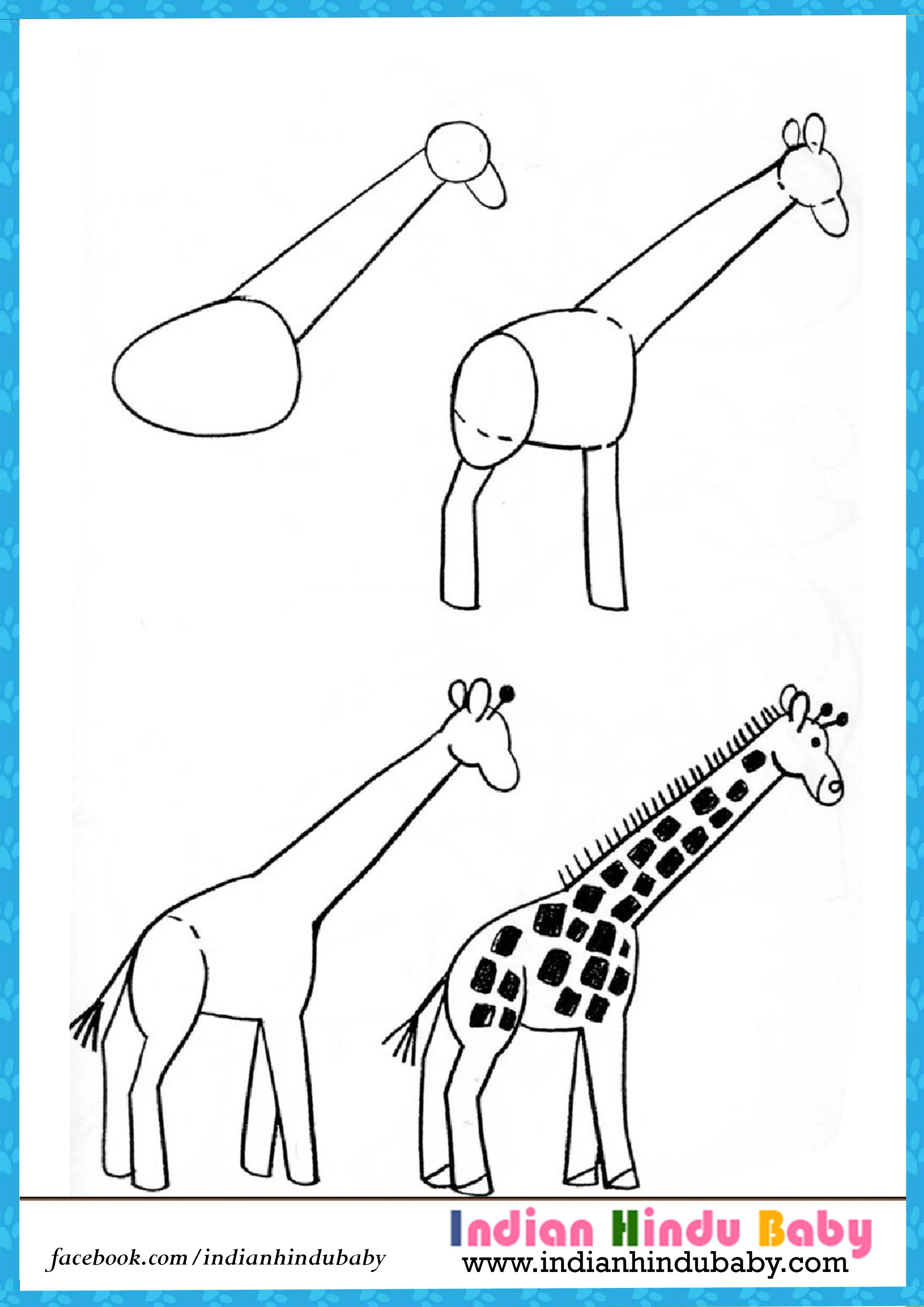 2480x3508 Teach Your Kid To Draw Girrafe With Simple Drawing Tips