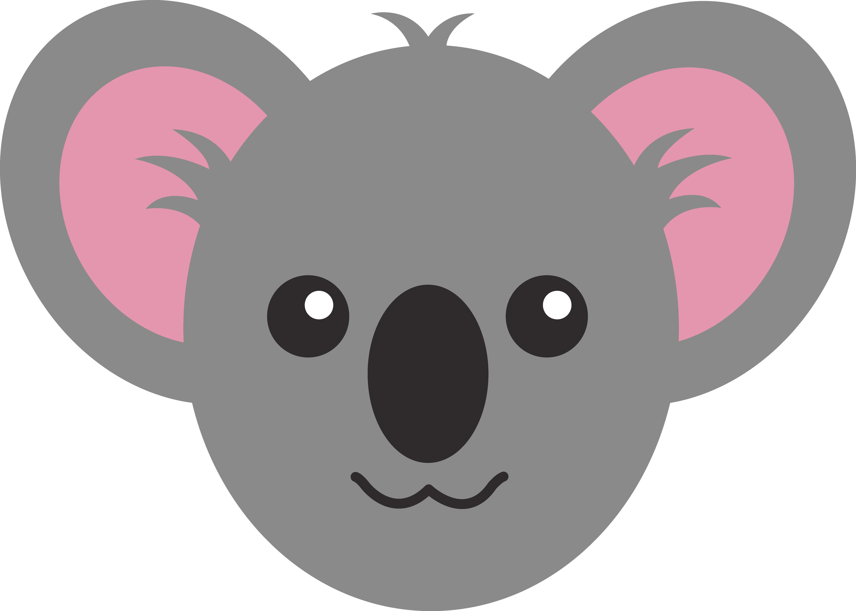 6158x4391 Cute Koala Face