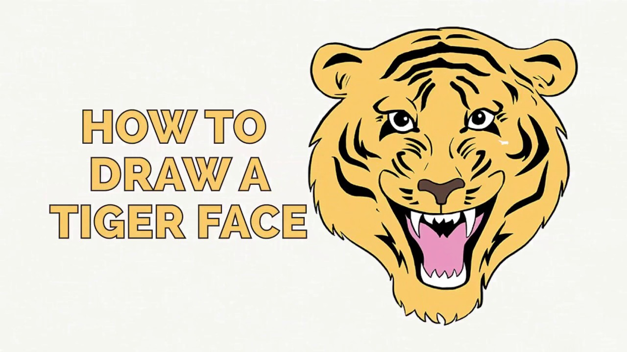 1280x720 How To Draw A Tiger Face
