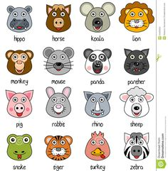 236x241 Animal Faces Icons Fonoaudiologia Rs Animal Faces