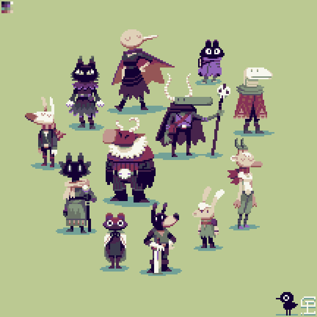 648x648 I Decided To Pixel Some Characters From Some Really Cool Doodles
